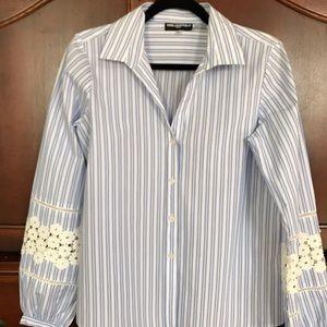 Karl Lagerfeld Blue Striped Shirt
